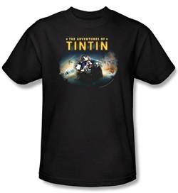 The Adventures Of Tintin Kids T-Shirt ? Journey Black Tee Shirt