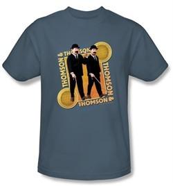 The Adventures Of Tintin Kids T-Shirt Thompson & Thompson Slate Tee