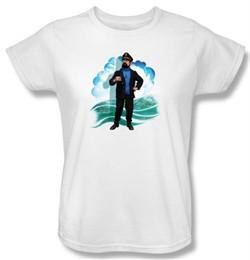 Adventures Of Tintin Ladies T-Shirt Captain Haddock White Tee Shirt