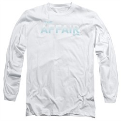 The Affair Long Sleeve Shirt Logo White Tee T-Shirt
