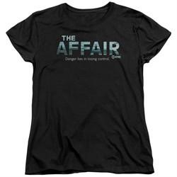 The Affair Womens Shirt Logo Black T-Shirt