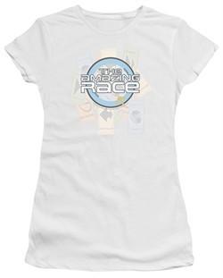 The Amazing Race Juniors Shirt Road Sign White T-Shirt