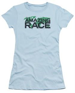 The Amazing Race Juniors Shirt World Light Blue T-Shirt