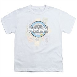 The Amazing Race Kids Shirt Road Sign White T-Shirt