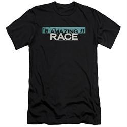 The Amazing Race Slim Fit Shirt Bar Logo Black T-Shirt
