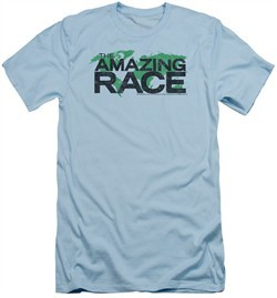 The Amazing Race Slim Fit Shirt World Light Blue T-Shirt