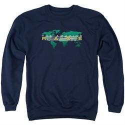 The Amazing Race Sweatshirt Around The World Adult Navy Blue Sweat Shirt