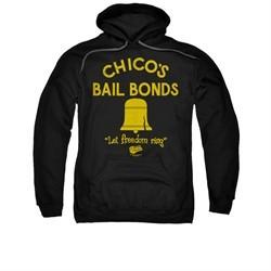 The Bad News Bears Hoodie Sweatshirt Stone Logo Black Adult Hoody Sweat Shirt