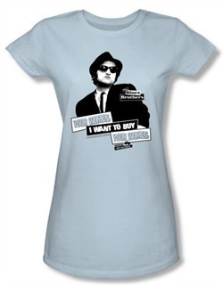 The Blues Brothers Juniors T-shirt Movie Juniors Light Blue Tee Shirt