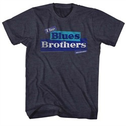 The Blues Brothers Shirt Old Logo Charcoal T-Shirt