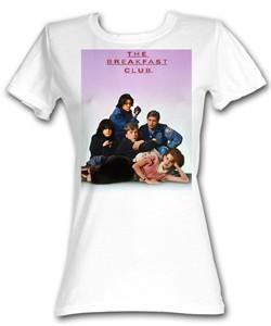 The Breakfast Club Juniors T-Shirt Movie BFC Poster White Tee Shirt