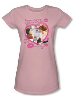 The Breakfast Club Juniors T-shirt Movie Lipstick Light Pink Tee Shirt