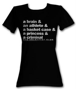 The Breakfast Club Juniors T-Shirt  BFC Word Up Black Tee Shirt