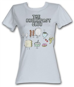 The Breakfast Club Juniors T-Shirt BFC Breakfast Silver Tee Shirt