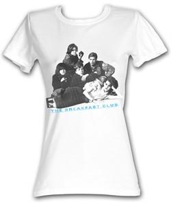 The Breakfast Club Juniors T-Shirt BFC Group Shot White Tee Shirt