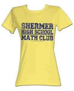 The Breakfast Club Juniors T-Shirt BFC Math Club Light Yellow Tee