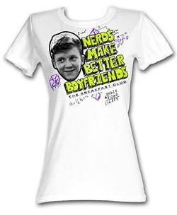 The Breakfast Club Juniors T-Shirt BFC Nerds Are Better White Tee