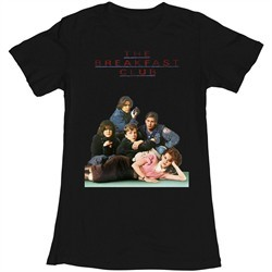 The Breakfast Club Juniors T-Shirt BFC Poster Black Tee Shirt