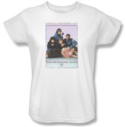 The Breakfast Club Ladies T-shirt Movie BC Poster White Tee Shirt