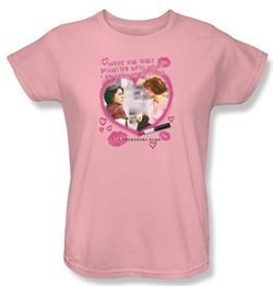 The Breakfast Club Ladies T-shirt Movie Lipstick Light Pink Tee Shirt