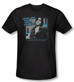 The Breakfast Club Slim Fit T-shirt Movie Bad Adult Black Shirt