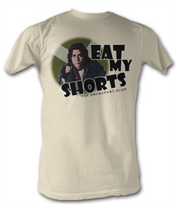 The Breakfast Club T-Shirt BFC Eat My Shorts Dirty White Tee Shirt