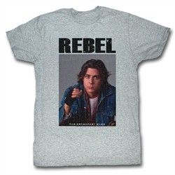 The Breakfast Club T-Shirt BFC Rebel Adult Gray Heather Tee Shirt