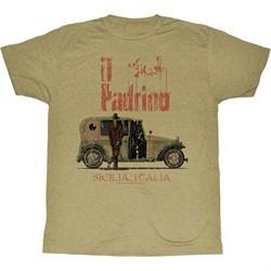 The Godfather Shirt II Padrino Adult Sand Heather Tee T-Shirt