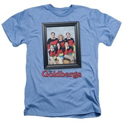 The Goldbergs Shirt Framed Heather Light Blue T-Shirt