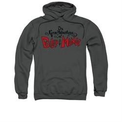 The Grim Adventures Of Billy & Mandy Hoodie Sweatshirt Grim Logo Charcoal Adult Hoody Sweat Shirt