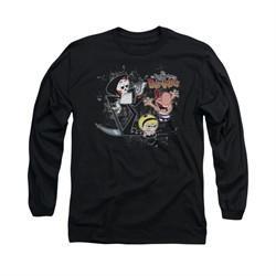 The Grim Adventures Of Billy & Mandy Shirt Long Sleeve Splatter Cast Black Tee T-Shirt