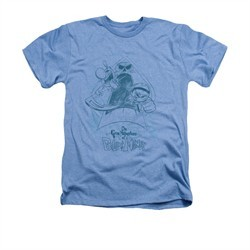 The Grim Adventures Of Billy & Mandy Shirt Sketched Adult Heather Light Blue Tee T-Shirt