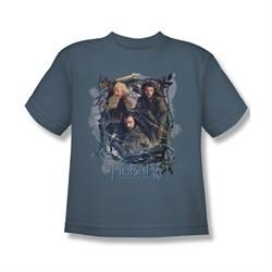 The Hobbit Desolation Of Smaug Shirt Kids Three Dwarves Slate Youth Tee T-Shirt