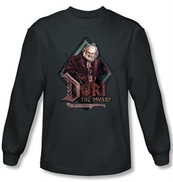 The Hobbit Shirt Movie Unexpected Journey Dori Charcoal Long Sleeve
