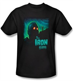 The Iron Giant Kids T-Shirt Movie Look To The Stars Black Shirt Youth