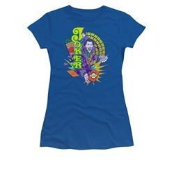 The Joker Shirt Juniors Raw Deal Royal Blue T-Shirt