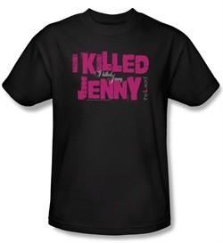 The L Word Shirt I Killed Jenny Adult Black T-Shirt Tee
