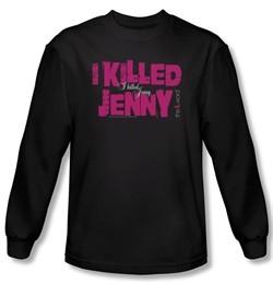 The L Word Shirt I Killed Jenny Black Long Sleeve T-Shirt Tee