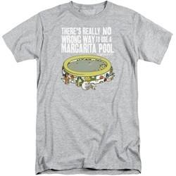 The Last Man On Earth Shirt Margarita Pool Tall Athletic Heather T-Shirt
