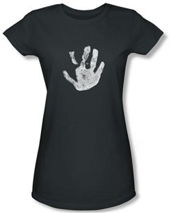 Lord Of The Rings Juniors T-Shirt White Hand Of Saruman Charcoal Tee