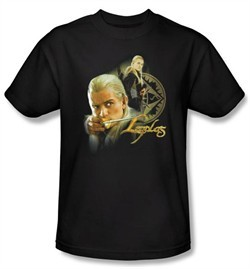 The Lord Of The Rings Kids T-Shirt Legolas Black Shirt Tee Youth