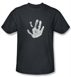 Lord Of The Rings Kids Shirt White Hand Of Saruman Youth Charcoal Tee