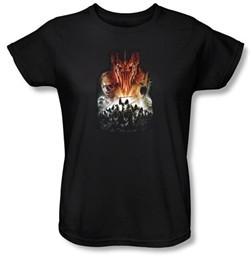 The Lord Of The Rings Ladies T-Shirt Evil Rising Black Tee Shirt