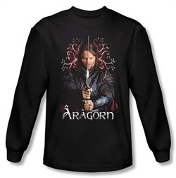 The Lord Of The Rings Long Sleeve T-Shirt Aragorn 2 Black Tee Shirt