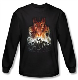 The Lord Of The Rings Long Sleeve T-Shirt Evil Rising Black Tee Shirt
