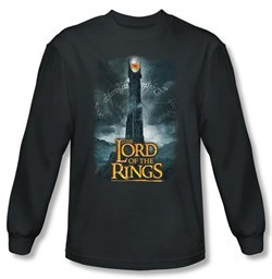 Lord Of The Rings T-Shirt Eye Of Sauron Charcoal Long Sleeve Tee