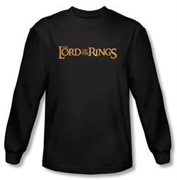 The Lord Of The Rings Long Sleeve T-Shirt LOTR Logo Black Tee Shirt