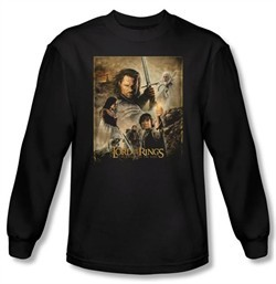 Lord Of The Rings Shirt Return Of The King Poster Long Sleeve Tee