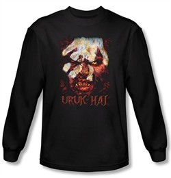 The Lord Of The Rings Long Sleeve T-Shirt Uruk Hai Black Tee Shirt