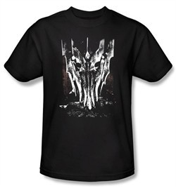 The Lord Of The Rings T-Shirt Big Sauron Head Adult Black Tee Shirt